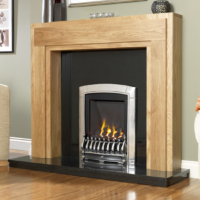 Flavel Caress Slimline Inset open fronted gas fire