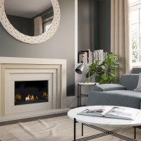 3 Step Marble Stone Fireplace Suite