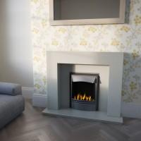 Goalpost Marble Stone Fireplace Suite