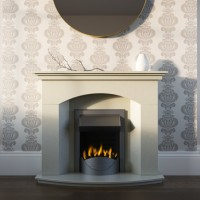 Maria Stone or Marble Fireplace Suite