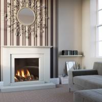 Mia Marble Stone Fireplace